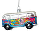 Grateful Dead Bears in Bus Glass Ornament