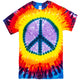 Lavender Peace Sign Tie Dye T Shirt