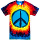Rainbow Peace Sign Tie Dye T Shirt