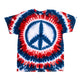 Patriotic Peace Sign Tie Dye T Shirt