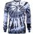 Black Smoke Exotic Spiral Tie Dye Long Sleeve T Shirt