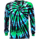 Nature Spiral Shooter Tie Dye Long Sleeve T Shirt