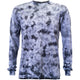 Charcoal Crackle Tie Dye Long Sleeve T Shirt