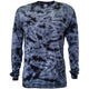 Black Crackle Tie Dye Long Sleeve T Shirt