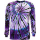 Purple Spiral Shooter Tie Dye Long Sleeve T Shirt