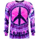 Pink Purple Peace Tie Dye Long Sleeve T Shirt