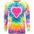 Pastel Heart Tie Dye Long Sleeve T Shirt