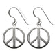 Peace Sign Sterling Silver Earrings