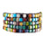 Square Glass Bead Mosaic Bracelet