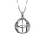 Double Peace Celtic Sterling Silver Necklace