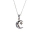 Moon and Star Sterling Silver Necklace