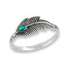 Shake Your Tail Feather Sterling Silver Ring