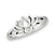 Lotus Silhouette Sterling Silver Ring