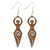 Enchanting Goddess Wooden Earrings