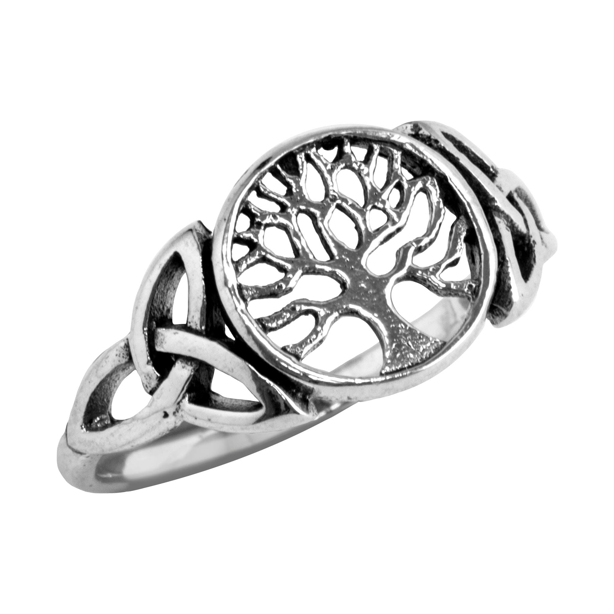 Celtic Tree Of Life Sterling Silver Ring Hippie Shop
