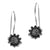 Delicate Sunflower Sterling Silver Earrings