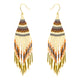 Southwestern Spirit Fringe Woven Bead Earrings