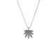 Cannabis Leaf Sterling Silver Necklace