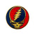 Grateful Dead Metal Finish Steal Your Face Bumper Sticker