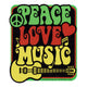 Peace Love Music Bumper Sticker