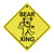 Grateful Dead Bear Xing Bumper Sticker