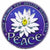 Peace Lotus Window Sticker