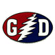 Grateful Dead GD Bolt Bumper Sticker