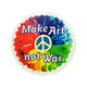 Make Art Not War Button