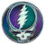 Grateful Dead Batik Steal Your Face Mini Window Sticker