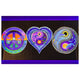 Peace, Love and Happiness Blacklight Poster