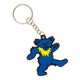 Grateful Dead Blue Dancing Bear Keychain