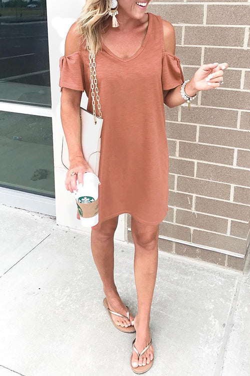 WenkWenk Casual Off Shoulder Mini Dress