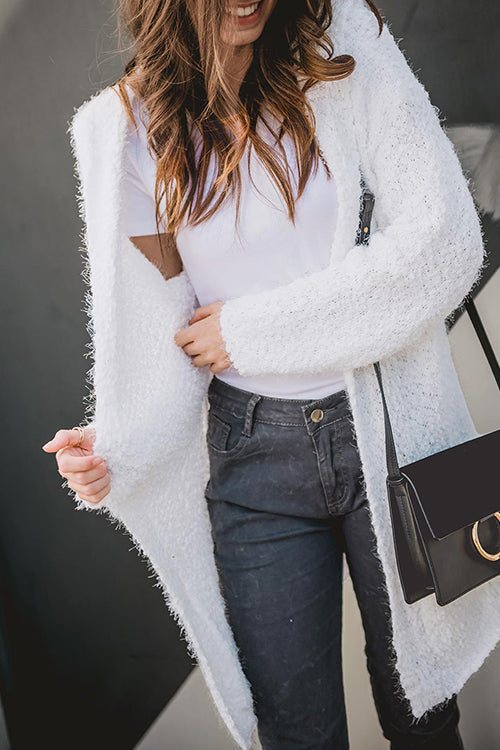 Wenkwenk Long Sleeves Fluffy Long Cardigans