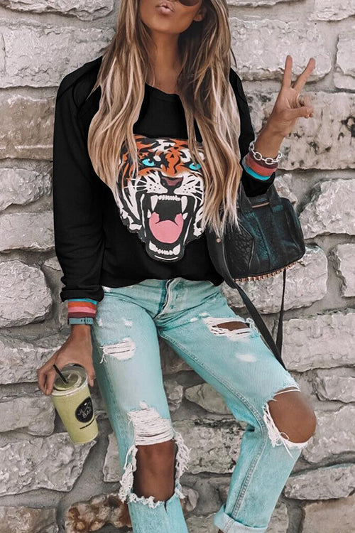 WenkWenk Vogue Animal Printed Pullover
