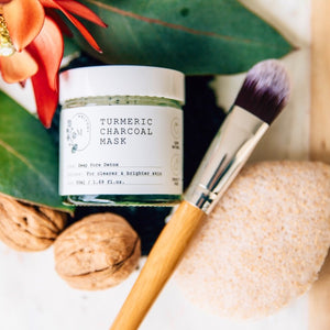 Turmeric Charcoal Mask with Walnut Konjac Sponge Set