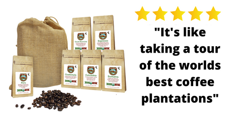 organic coffee sampler set