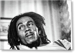 Bob Marley During Interview - Greeting Card