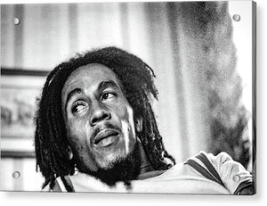 Bob Marley During Interview - Acrylic Print