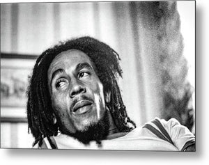 Bob Marley During Interview - Metal Print