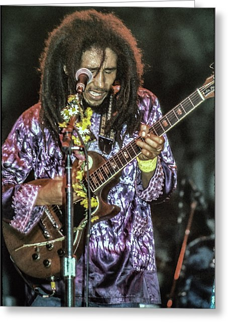 Bob Marley In Concert - Greeting Card