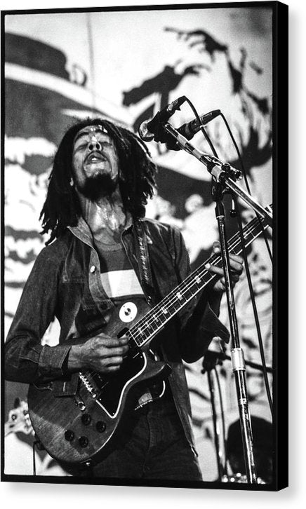 Bob Marley In Concert - Canvas Print
