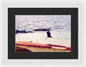 Beach In Belmont, West Moreland, Jamaica - Framed Print