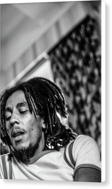 Bob Marley During Interview - Canvas Print