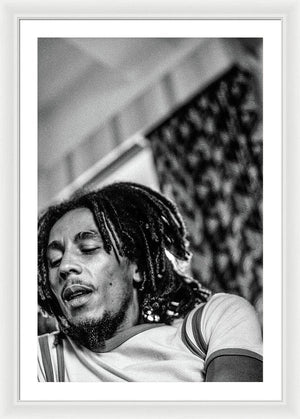 Bob Marley During Interview - Framed Print