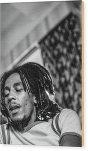 Bob Marley During Interview - Wood Print