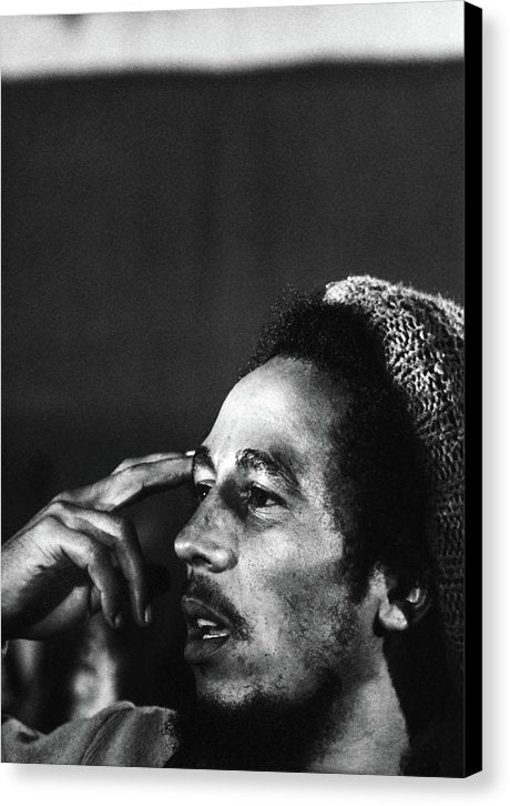 Bob Marley In Thought - Canvas Print