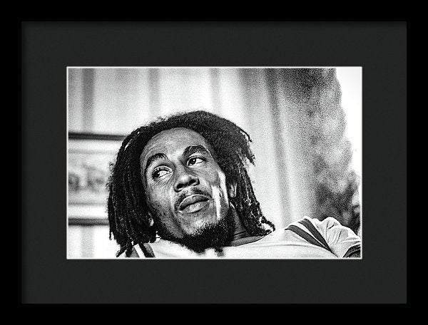Bob Marley Interview Portrait - Framed Print