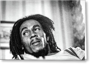 Bob Marley Interview Portrait - Greeting Card