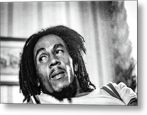 Bob Marley Interview Portrait - Metal Print