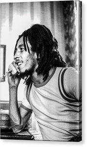 Bob Marley On Phone - Canvas Print